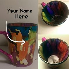 Custom Rainbow coffee mug by Krafternal on Etsy