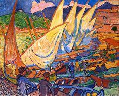 Fising boats, André Derain, 1905. Souce: Jean-Pierre Gardelle, Google+.