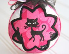 Christmas Cat #10 by Lyn Patricia on Etsy