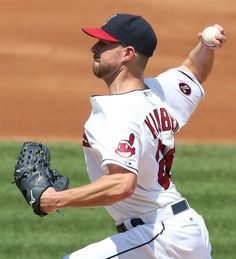 Corey Kluber wins 12-1 with a complete game against the Kansas City Royals on July 29, 2015 at Progressive Field.  Indians won 12-1.  (Chuck Crow/The Plain Dealer)