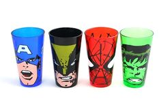 My brother NEEDS these! (I will keep Cap thankyouverymuch) ~~ Marvel Comics - Big Face Pint Glasses.