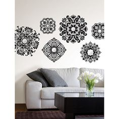 31$ wall decals/ ceiling medallions