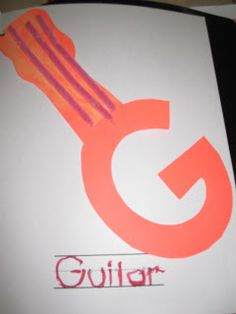 Letter G craft: G is for Guitar