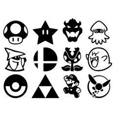 Mario Bros Nintendo Vinly Decal Sticker for Laptop Car Window Wall Bumper Door Stencil Art, Stencils, Posca Art, Tattoo Flash Art, Graffiti Lettering, Mini Tattoos, Silhouette Projects, Laptop Stickers, Doodle Art