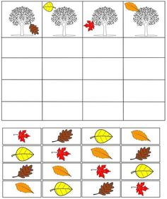 cheznounoucricri - Page 89 Fall Preschool Activities, Seasons Activities, Preschool Math, Kindergarten Worksheets, Toddler Activities, Fall Arts And Crafts, Autumn Crafts, Childhood Education, Kids Education