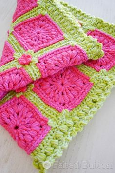 Melon Berry Rug crochet pattern by Felted Button