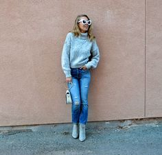 COZY SWEATERS UNDER $30 - Jaclyn De Leon Style + casual fall outfit + fuzzy sweaters + holiday style + warm cozy sweaters + winter outfit inspiration + affordable fashion + what to wear this season + denim + casual street style + mom style
