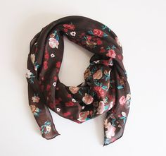 Brown Scarf Cotton Scarf Women Accessories by selenayselenay #scarf #scarves