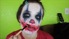 Easy Scary/Evil Clown Makeup tutorial (even though it's not Halloween yet)