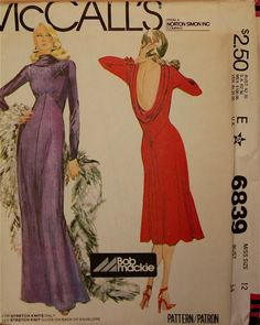 Bob Mackie Dress & Evening Gown  McCall's