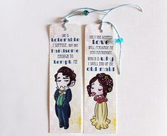 Bookmarks: Elizabeth Bennet & Mr Darcy Pride and by florealpolla
