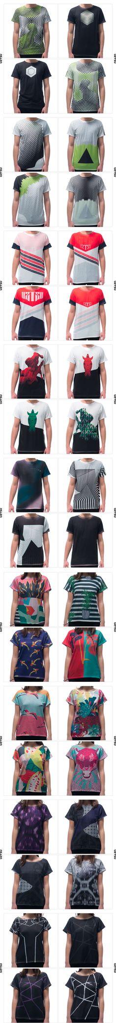 Moda Reversível : a camiseta Uztzu pode ser usada de 4 maneiras diferentes #moda #sustentabilidade #estampas #estamparia