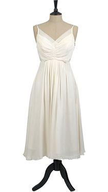 Silk spaghetti bridesmaid dress