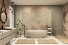 A bathroom is not only for bathing, but also it can be a cozy corner in your house… The post Master Bathroom Ideas appeared first on Don Pedro. Warm Bathroom, Open Bathroom, Bathroom Interior, Master Bathroom, Bathroom Ideas, Large Shower, Glass Shower, Corner Gas Fireplace, Standing Bathtub