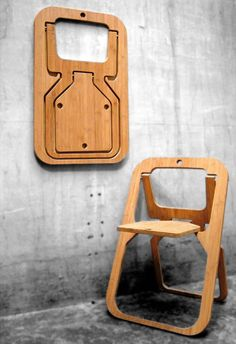 Desile Folding Chair by Vange