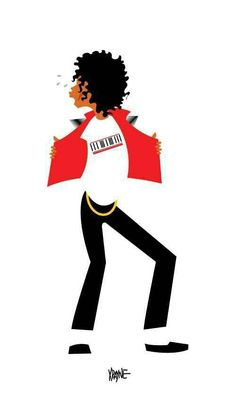 "Michael Jackson ""Beat It"" drawing."