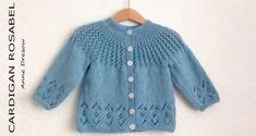 Baby Knitting Patterns Rosabel Knitted Baby Cardigan [FREE Knitting Pattern] More…. Baby Knitting Patterns, Baby Cardigan Knitting Pattern Free, Baby Sweater Patterns, Knitted Baby Cardigan, Knit Baby Sweaters, Knitted Baby Clothes, Cardigan Pattern, Baby Patterns, Free Knitting