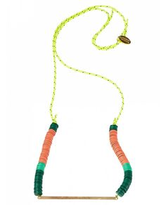 Colourful surf inspired necklaces - Neon Surf by Maison Scotch