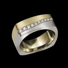 Four Seasons Diamond Ring by Adam Neeley. Four Seasons Diamond Ring is a ring for all of the seasons of life. This handsome ring features pavé set diamonds in 14kt white and yellow gold with a satin finish.
