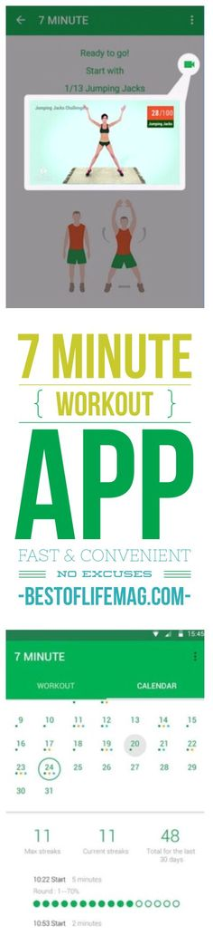 7 Minute Workout Fitness App Review. You can get results in just 7 minutes!