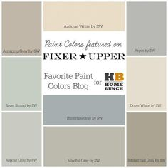 joanna+gaines+color+palette | Best 25+ Sherwin william ideas on Pinterest | Williams and williams, Gray paint colors and ...