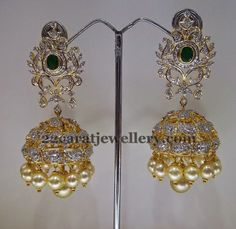 Exquisite Diamond Jhumkas | Jewellery Designs