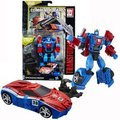 """Hasbro Year 2015 Transformers Generations Combiner Wars Series 5-1/2"""" Tall Robot Figure - Autobot SMOKESCREEN with Blaster, Sky Reign's Foot and Comic Book (Vehicle Mode: Race Car)"""