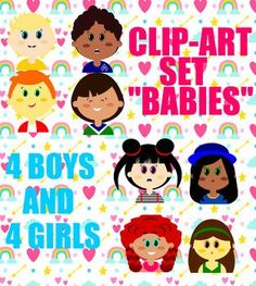 I am happy to present you this clip-art set, which is a vector pre-k group in a zip folder!8 adorable kiddies in .png format, 300 dpi. All images in high resolution and full color. Background set to transparent - ready for use!