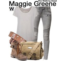Inspired by Lauren Cohan as Maggie Greene on The Walking Dead - Shopping info!