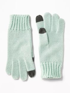 Sparkle Sweater-Knit Gloves for Girls