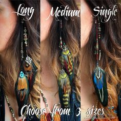Natural Emerald Heart feather hair extension clip Source by Feather Hair Clips, Feather Jewelry, Feather Earrings, Hair Jewelry, Feathers In Hair, Mode Hippie, Mode Boho, Boho Hairstyles, Feathered Hairstyles