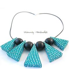 Statement Handmade Turquoise Necklace -  Fish Scale by VianneyMendez, $55.00