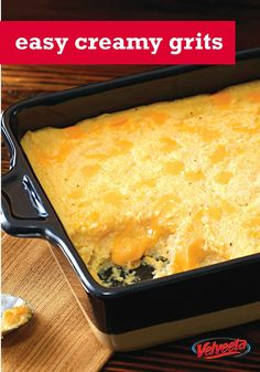 Add some Southern comfort to the table with our VELVEETA® Easy Creamy Grits Recipe. Our VELVEETA® Easy Creamy Grits Recipe is a great dish any time of day. Breakfast Items, Breakfast Dishes, Breakfast Recipes, Brunch Menu, Brunch Recipes, Polenta, Velveeta Recipes, Grits Recipe, Kraft Recipes