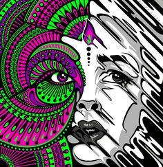 Bijou by Dana-Ulama on DeviantArt Fantasy Kunst, Dark Fantasy Art, Kunst Inspo, Art Inspo, Art And Illustration, Dope Kunst, Graffiti Wall Art, Graffiti Wallpaper, Arte Alien