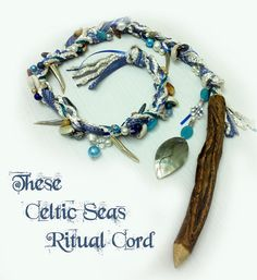 Celtic Seas Ritual Cord pagan wicca wiccan by MoonsCraftsUK, £25.00 Gypsy Witch, Pagan Witch, Wiccan Spells, Witchcraft, Water Witch, Sea Witch, Celtic Paganism, Wiccan Crafts, The Good Witch