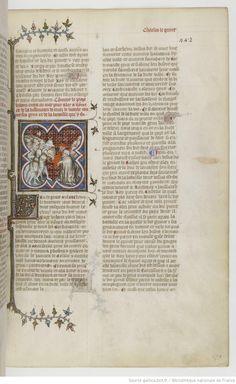 Grandes Chroniques de France Fol 442r, 1375-1380, Henri du Trévou & Raoulet d'Orléans