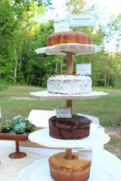 4 tiers for 40 years...stand constructed by my talented cousin.