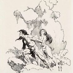 "1,991 Likes, 4 Comments - Frazetta Girls, LLC (@frazettagirls) on Instagram: ""#FrankFrazetta ""Korak, son of Tarzan"" Illustration •1962•…"""