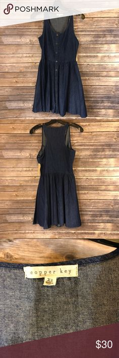 Copper Key Full Button Up Dress NWT NWT. Chest 15 inches. Length 31 inches. Copper Key Dresses Midi