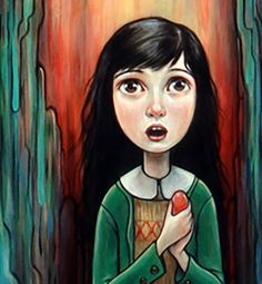 """The Girl with the Egg (zoom)"" par Kelly Vivanco (looks a lot like shelley duvall in the shining)"