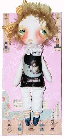 Cloth dolls by renowned artist Nancy Latham