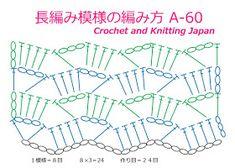 Crochet Diagram, Crochet Motif, Free Crochet, Knit Crochet, Crochet Stitches Patterns, Stitch Patterns, Knitting Patterns, Crochet Market Bag, Stitch Design