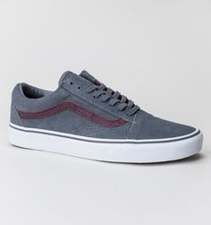 vans old skool pewter neon purple