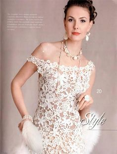 """Meraviglioso abito """"Fiori bianchi""""!!!                   ..."""