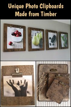 Spruce up Your Home by Displaying Photos in These Rustic DIY Photo Clipboards