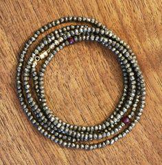pyrite and ruby bracelet — silverado vermont jewelry