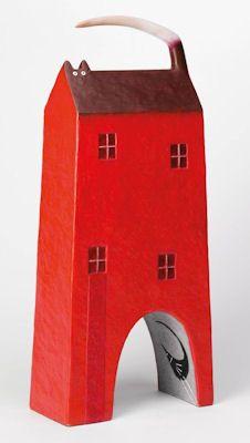 little red house, cat, bird  Govinder Nazran