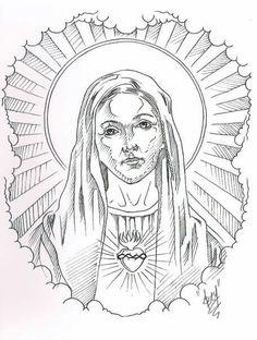 Tattoo Outline Drawing, Tattoo Design Drawings, Tattoo Sketches, Angel Tattoo Designs, Tattoo Sleeve Designs, Sleeve Tattoos, Religious Tattoo Sleeves, Heaven Tattoos, Christ Tattoo