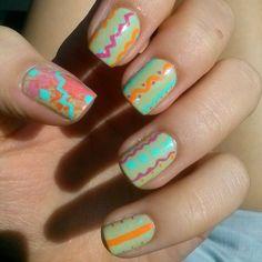 coffeeeaddict Random scribbles #nails #nailporn #nailart #nailpolish #nailaddict #naildesigns #nailsofinstagram #vscocam #vsco #notd #manicure
