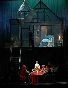 SET/LIGHTING - construction of the set will need to include a second story for Peter's attic; good example of focal sectional lighting